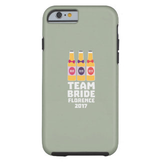 Capa Tough Para iPhone 6 Noiva Florença da equipe 2017 Zhy7k
