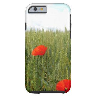 Capa Tough Para iPhone 6 Papoilas em um exemplo do iPhone 6s do campo de
