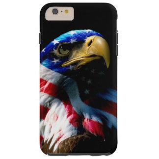 Capa Tough Para iPhone 6 Plus Americano patriótico Eagle