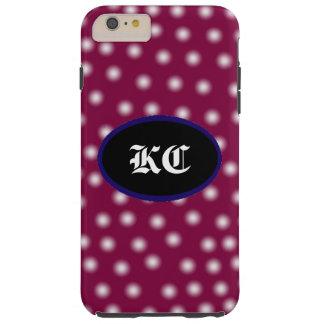 Capa Tough Para iPhone 6 Plus Bolinhas com iniciais customizeable