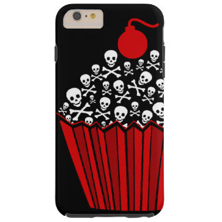 Capa Tough Para iPhone 6 Plus Cupcake do crânio