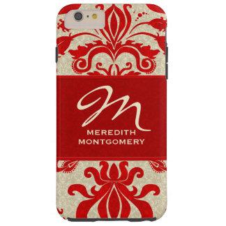 Capa Tough Para iPhone 6 Plus Feminino, na moda e vintage vermelho profissional
