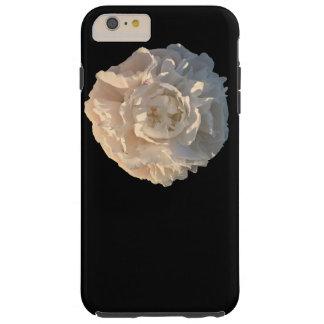 Capa Tough Para iPhone 6 Plus Peônia no fundo preto