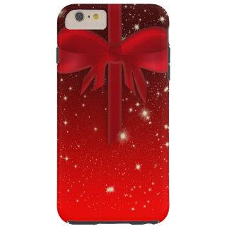 Capa Tough Para iPhone 6 Plus Presente vermelho