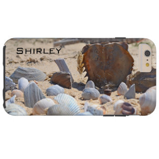 Capa Tough Para iPhone 6 Plus Seashells na praia por Shirley Taylor
