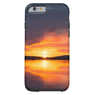 Capa Tough Para iPhone 6 Por do sol de Lapland