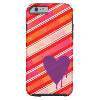 Capa Tough Para iPhone 6 Roxo de derretimento do coração