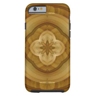 Capa Tough Para iPhone 6 teste padrão abstrato da madeira do círculo da