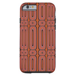 Capa Tough Para iPhone 6 Teste padrão abstrato do círculo da laranja