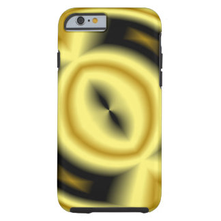 Capa Tough Para iPhone 6 Teste padrão amarelo do círculo