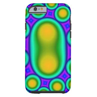 Capa Tough Para iPhone 6 Teste padrão colorido na moda do círculo