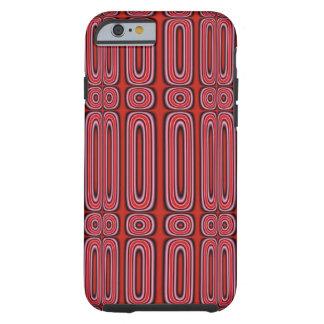 Capa Tough Para iPhone 6 Teste padrão vermelho do círculo