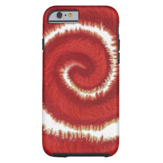 Capa Tough Para iPhone 6 trabalhos de arte espirais vermelhos #1 de