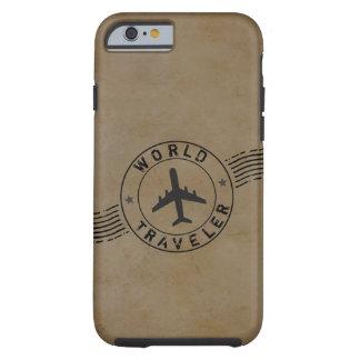 Capa Tough Para iPhone 6 Viajante de mundo