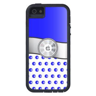 Capa Tough Xtreme Para iPhone 5 Sparkles azuis