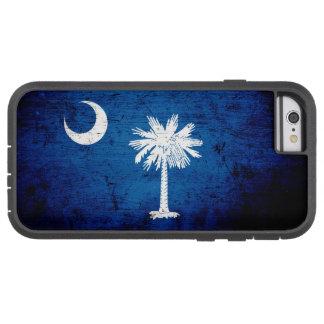 Capa Tough Xtreme Para iPhone 6 Bandeira preta do estado de South Carolina do