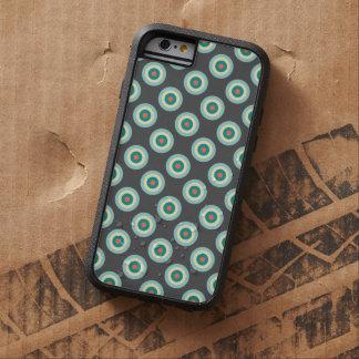 Capa Tough Xtreme Para iPhone 6 Círculos cinzentos da combinação por Shirley