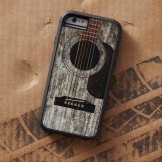 Capa Tough Xtreme Para iPhone 6 Guitarra acústica de madeira velha