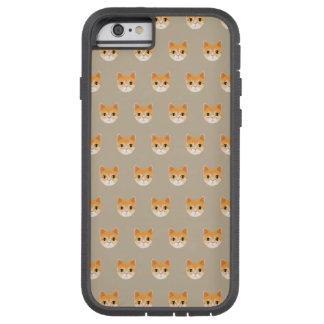 Capa Tough Xtreme Para iPhone 6 Ilustração bonito do gato de gato malhado