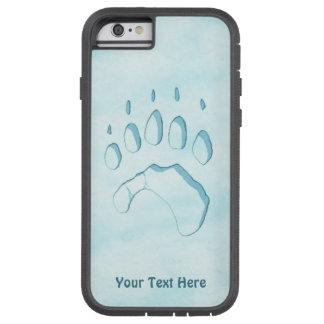 Capa Tough Xtreme Para iPhone 6 Impressão da pata de urso polar