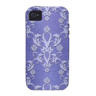 Capas de iphone azuis femininos do damasco capas para iPhone 4/4S