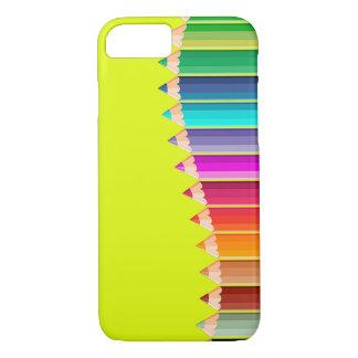 capas de iphone com lápis da cor