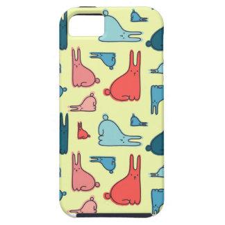 Capas de iphone com teste padrão dos coelhos