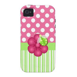 Capas de iphone cor-de-rosa e verdes bonitos de Gi Capinhas iPhone 4/4S