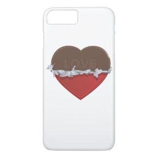 Capas de iphone do coração do chocolate