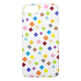 Capas de iphone do teste padrão da cor do diamante