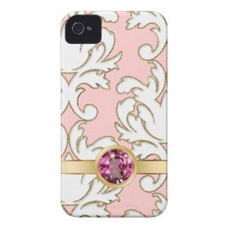 Capas de iphone femininos cor-de-rosa da jóia capinhas iPhone 4