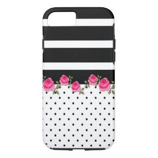 Capas de iphone listradas florais do pokidot de