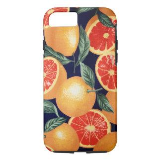 Capas de iphone retros das laranjas do vintage