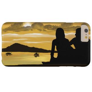 Capas iPhone 6 Plus Barely There Amor, por do sol romântico na praia