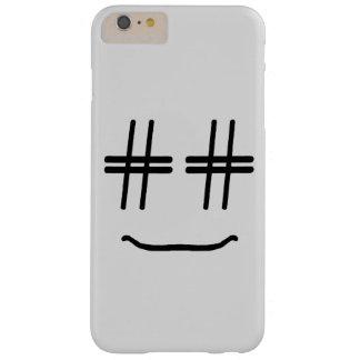 Capas iPhone 6 Plus Barely There ESCOLHA TODA A COR # smiley face de Hashtag