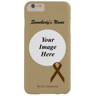 Capas iPhone 6 Plus Barely There Fita padrão Tmpl de Brown por Kenneth Yoncich