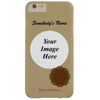 Capas iPhone 6 Plus Barely There Fita Tmpl da flor de Brown por Kenneth Yoncich