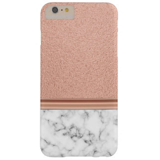 Capas iPhone 6 Plus Barely There Folha de ouro cor-de-rosa no mármore