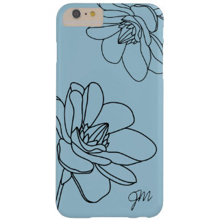 Capas iPhone 6 Plus Barely There iPhone floral chique 6/6S do monograma mais o caso
