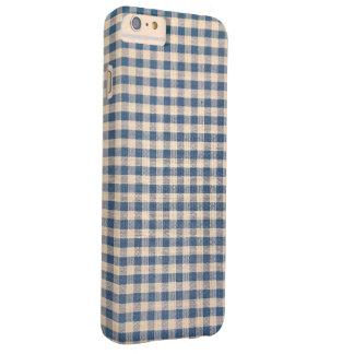 Capas iPhone 6 Plus Barely There teste padrão azul do guingão