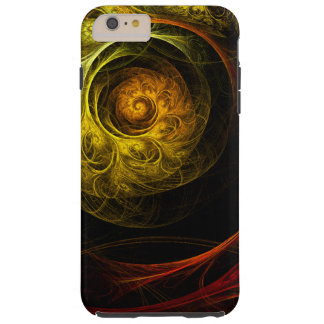 Capas iPhone 6 Plus Tough Arte abstracta vermelha floral do nascer do sol
