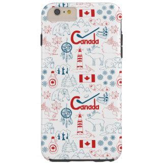Capas iPhone 6 Plus Tough Teste padrão dos símbolos de Canadá |