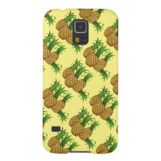 Capas Par Galaxy S5 abacaxi doce. fundo amarelo