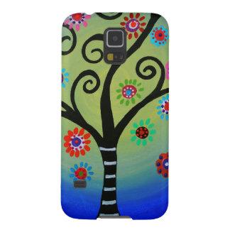 Capas Par Galaxy S5 Árvore lunática da pintura da vida