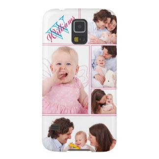 Capas Par Galaxy S5 Colagem Monogrammed cor-de-rosa feminino de 5