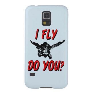 Capas Par Galaxy S5 Eu vôo, faz você? (preto)