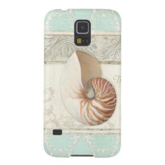 Capas Par Galaxy S5 Forma tropical do verão da arte de Shell do