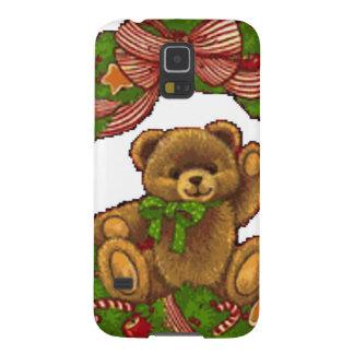 Capas Par Galaxy S5 Grinalda do urso de ursinho do Natal