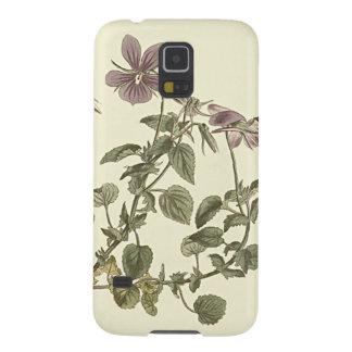 Capas Par Galaxy S5 Ilustração botânica da violeta Horned