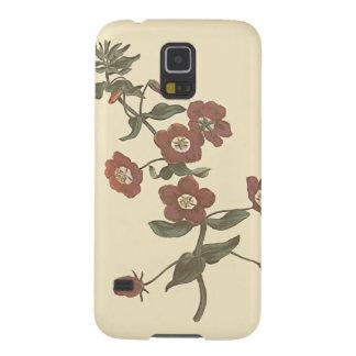 Capas Par Galaxy S5 Ilustração botânica do Pimpernel Shrubby